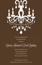Modern Superb Chandelier Brown Rehearsal Invitation