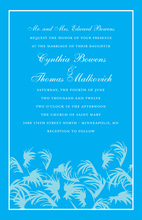 Swaying Palms Blue Beach Invitations