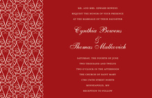 Classic Pattern Red Gate Wedding Invitations