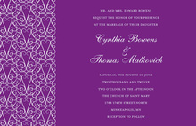 Party Gate Design Modern Purple Invitations