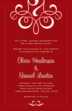 Outstanding Holiday Flourish Invitations