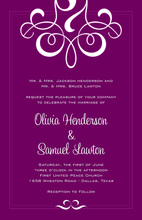 Classic Graceful Flourish Invitations