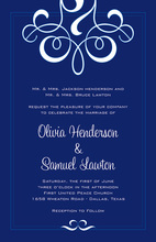 Irresistible Modern Flourish Wedding Rehearsal Invites