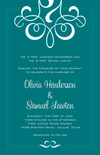 Understated Classic Flourish Invitations