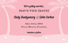 Vibrant Softly Pink Tropics Invitation