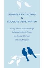 Classy Blue Lovely Birds Wedding Invitations