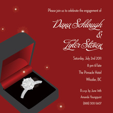 Beautiful Ring Red Wedding Engagement Invitations