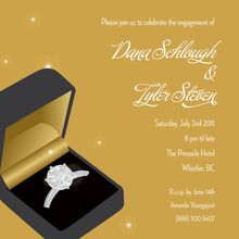 Ring Gold Wedding Engagement Invitations