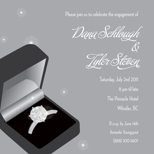 Anniversary Ring Silver Wedding Engagement Invitations