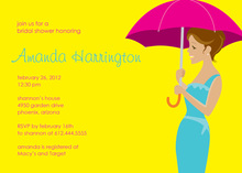 Forecast For Showers Yellow Wedding Shower Invitations