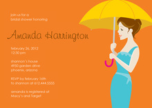 Forecast For Showers Orange Wedding Shower Invites