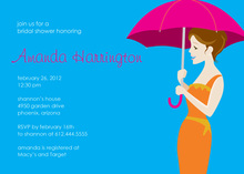 Forecast For Showers Blue Wedding Shower Invitation