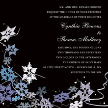 Black Winter Snowflakes Invitation