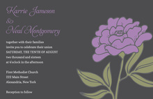 Vintage Carnation Lavender Floral Wedding Invitations