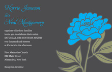 Vintage Carnation Bright Blue Floral Wedding Invites