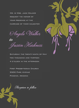 Elegant Lavender Bulbs Charcoal Invitations
