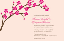 Classic Cherry Blossom In Stylish Pink Invitations