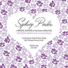Heart In Bloom Lavender Square Wedding Invitations