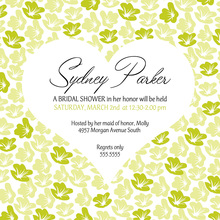 Heart In Bloom Lime Square Wedding Invitations