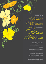 Flower Jubilee In Charcoal Wedding Invitations