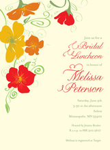 Illustrating Flower Jubilee In White Bridal Invitations