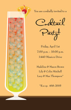 Sunset Cocktail Cream Invitations