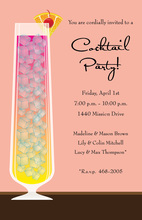 Sunset Cocktail Pink Formal Drink Party Invitations