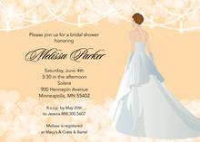 Cream Waiting Bride Bridal Shower Invitations