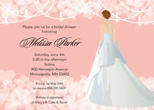 Pink Waiting Bride Bridal Shower Invitations