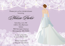 Lavender Waiting Bride Bridal Shower Invitations