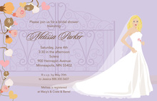 Bridal Elegance Blonde Bridal Shower Invitations