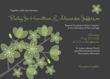 Modern Posies Modern Green Bridal Shower Invitations