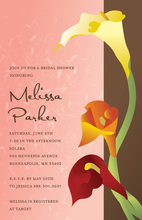 Detailed Gradient Sunset Lilies Garden Invitations