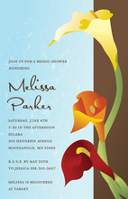 Gradient Sunset Lilies Spring Garden Party Invites