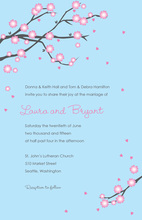 Modern Pink Blossoms Wedding Invitations