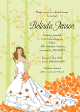 Fairy Tale Bride Shower Fall Orange Wedding Invites