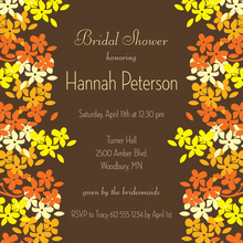 Bright Blooms Yellow Orange Fall Wedding Invitations