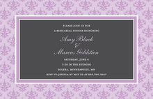 Unique Lavender Damask Border Stylish Party Invitation