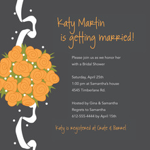 Catch Special Orange Bridal Bouquet Wedding Invites