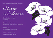 Vintage White Floral Purple Feminine Invitations