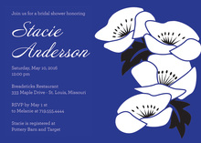 Vintage Blue Floral Invitation
