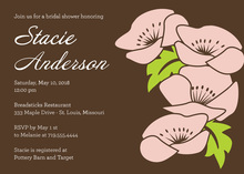 Vintage Brown Floral Wedding Shower Invitations