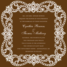 Antique Elegant Frame Brown Wedding Invitations