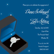 Superior Blue Ring Engagement Party Invitations