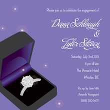 Lavender Ring Engagement Invitations
