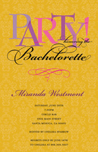 Bachelorette Party Yellow Pattern Invitations