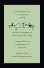 Formal Black Border Sage Invitations