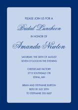 Medium Blue Border Blue Corporate Shower Invitations