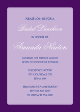 Stylish Simple Lavender Border Invitation