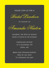 Yellow Border Charcoal Invitations
